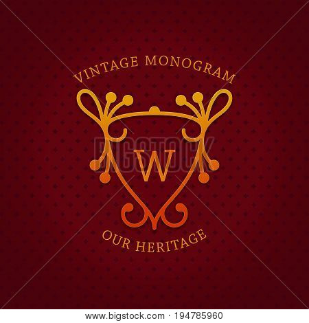 Vintage Monogram Template Design