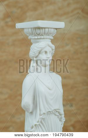 Statue of Caryatid Parthenon of Acropolis in Athens.