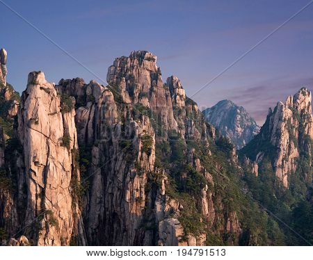 Huangshan Mountain (Yellow Mountains), China. Of all the notable mountains in China it is probably the most famous to be found in the south of Anhui province.