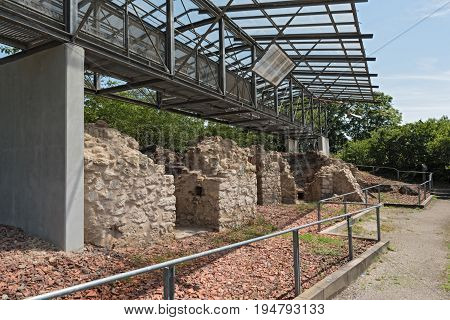 FLOERSHEIM, GERMANY-JULY 07, 2017: Historical lime kilns in Floersheim (Hesse) from the 18th and 19th century, Germany