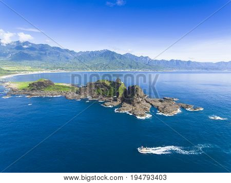 aerial view of Sansiantai in Taitung. Taiwan