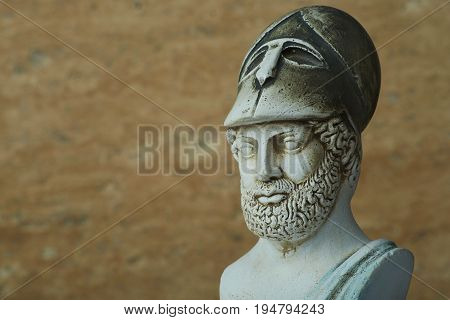 Statue of the ancient Athens statesman Pericles..
