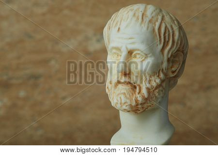 Statue of ancient Greek philosopher Aristotle in Athens.