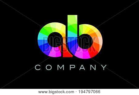 Ab A B Alphabet Letter Mosaic Vector Design
