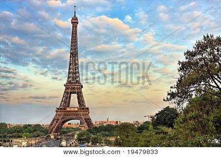 Eiffel Tower at evening, Paris, France poster