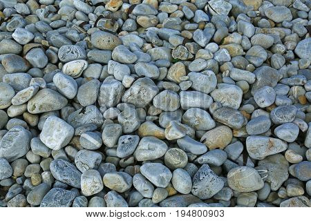 Gravel on a beach in Brittany France