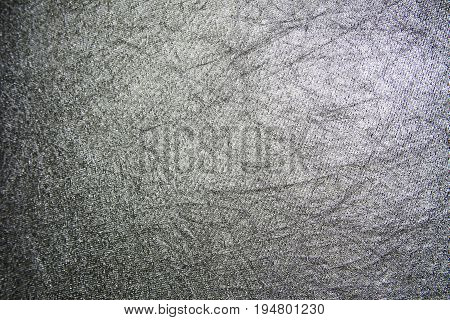 wrinkled background in gray and silver colors