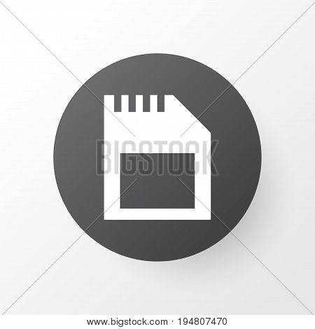 Sd Card Icon Symbol. Premium Quality Isolated Memory Element In Trendy Style.