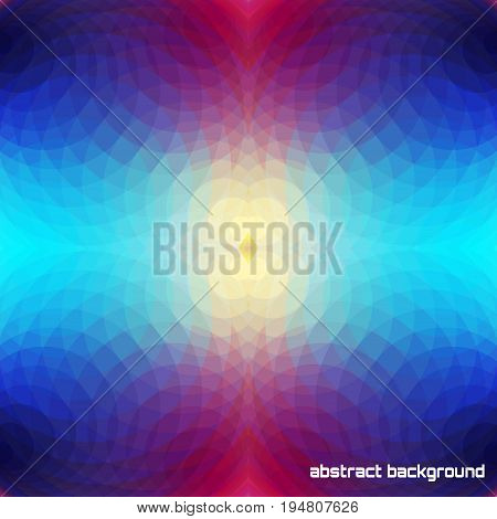Abstract vector seamless background. Multicolored bright polygons.
