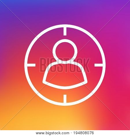 Isolated Audience Outline Symbol On Clean Background. Vector Targeting  Element In Trendy Style.