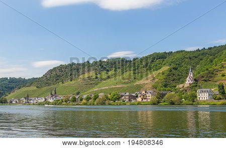 View Of Hatzenport On The Moselle Panorama