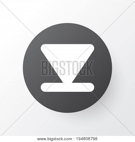 Arrow Down Icon Symbol. Premium Quality Isolated Bottom Element In Trendy Style.