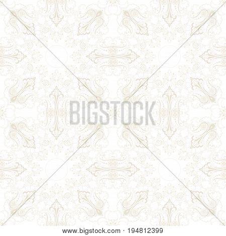 Seamless vector background. Vintage elegant oriental pattern.
