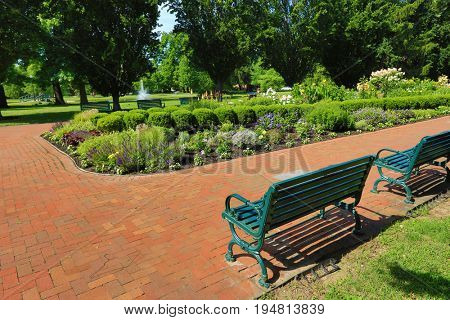 Schiller Park in German Village is a 23 acre municipal park just south of downtown Columbus, Ohio