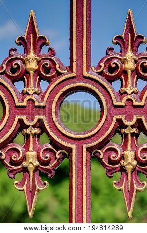High Dynamic Range detail of a gate.