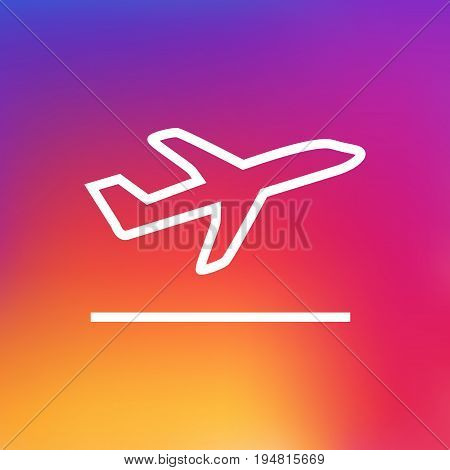 Isolated Departure Outline Symbol On Clean Background. Vector Flight Element In Trendy Style.