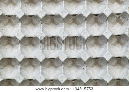 Close up and detailed of paper eggs container box texture background. Shock absorbation for egg protection packaging case.
