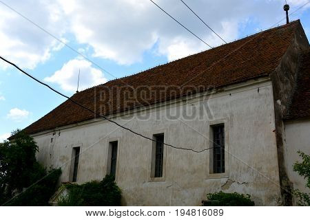 Typical House In The Village Crit-kreutz, Transylvania. The Villagers Started Building A Single-nave
