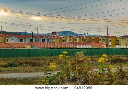 Outskirt middle class condominium houses at Guayaquil Ecuador