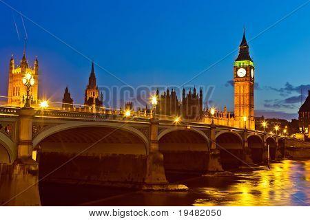 London at night, UK
