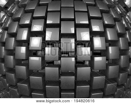 3d metal cubes background pattern 3d illustration