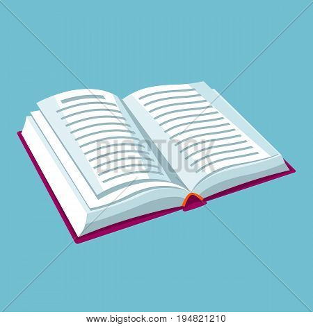 Open book with text. Illustrations for education and school.