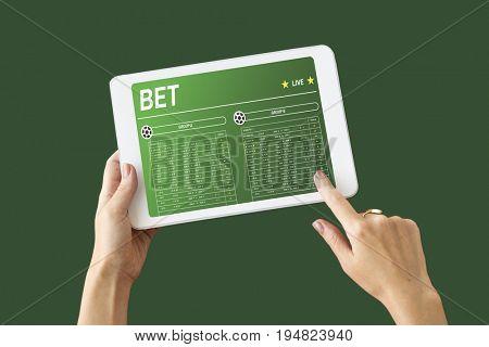 Online soccer game bet technology