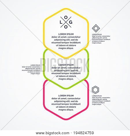 Business infographics template for text and information. Fully editable file. Vector illustration.