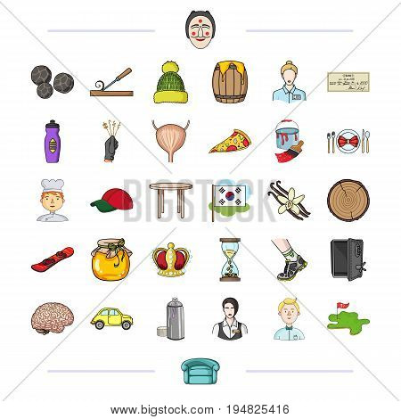 sport, tourism, medicine and other  icon in cartoon style., sofa, beekeeping, business icons in set collection.