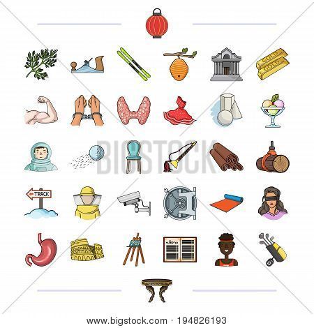 medicine, textiles, bank and other  icon in cartoon style.antiques, business, tourism, icons in set collection.