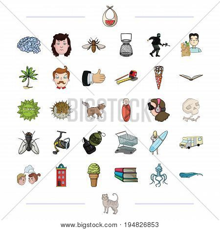 nature, medicine, business and other  icon in cartoon style.army, tourism, relationships, icons in set collection.