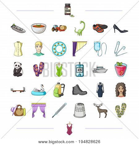 shopping, medicine, business and other  icon in cartoon style.recreation, entertainment, tourism, icons in set collection.
