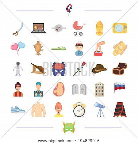 Medicine, travel and other  icon in cartoon style.holiday, profession icons in set collection.