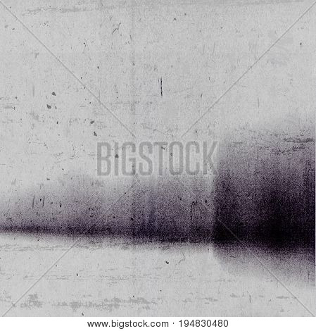 Abstract photocopy texture background with large dark ink mark