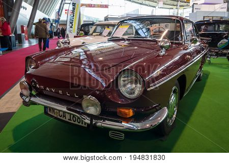 STUTTGART GERMANY - MARCH 17 2016: Sports car Renault Caravelle (Florida) Coupe 1968. Europe's greatest classic car exhibition