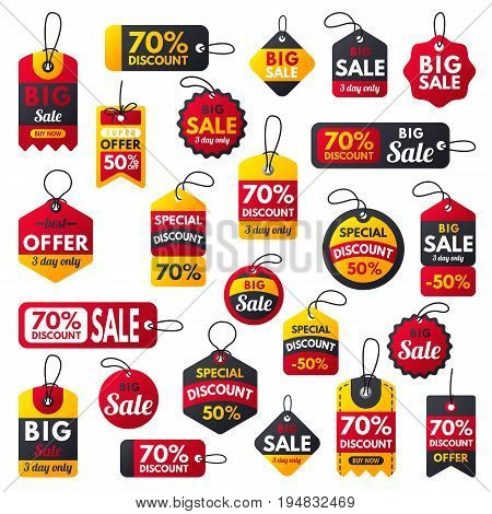 Super sale extra bonus red banners text label business shopping internet promotion discount offers vector illustration.