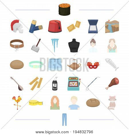 atelier, appearance, hairdo and other  icon in cartoon style.tool, food, equipment, travel icons in set collection.