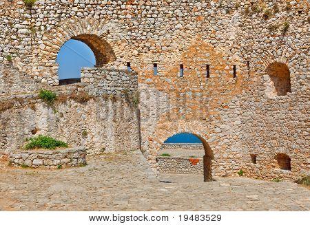 Walls of Palamidi fortress, Nafplio, Greece poster