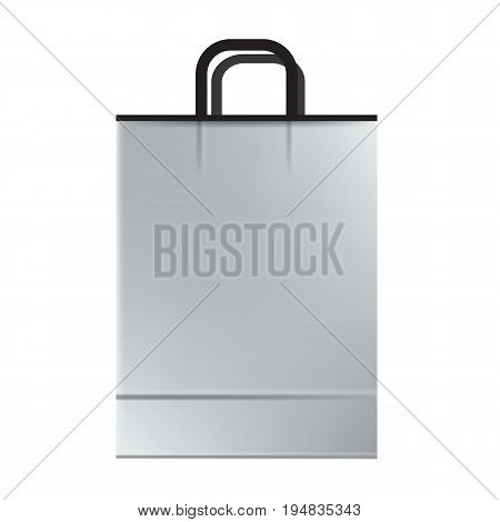 White empty Shopping paper bag. Ready to use mockup vector illustration