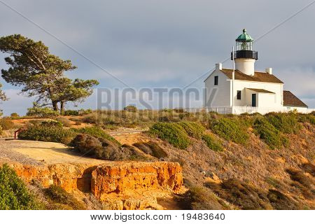 Point Loma Lighthouse in Cabrillo National Park, San Diego poster