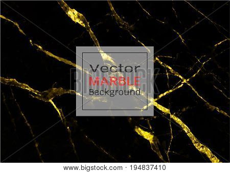 Abstract gold marble background, Vector pattern for inspiration to your design, Easy to use by place your text or add your own logo, images, whatever you want.