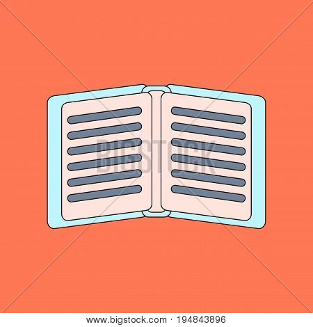 flat icon with thin lines school notebook
