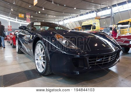 STUTTGART GERMANY - MARCH 18 2016: Sports car Ferrari 599 GTB Fiorano F1 2008. Europe's greatest classic car exhibition