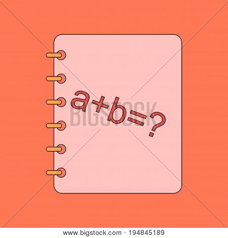 flat icon with thin lines math book