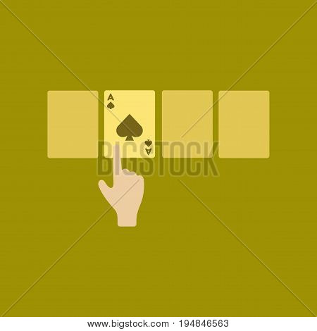 flat icon on stylish background poker hand playing cards