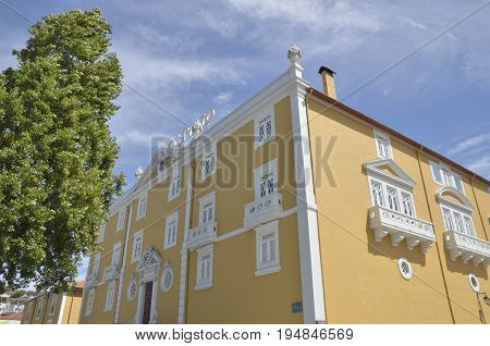 GAIA, PORTUGAL - AUGUST 7, 2015: Exterior of cellar in Gaia a city and a municipality in Porto District Portugal.