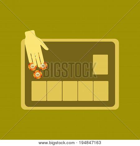 flat icon on stylish background game poker table