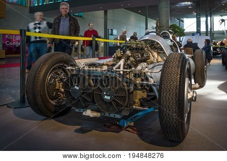 STUTTGART GERMANY - MARCH 18 2016: The racing car Veritas Meteor II 1950. Europe's greatest classic car exhibition