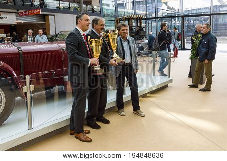 STUTTGART GERMANY - MARCH 18 2016: Award winners. Europe's greatest classic car exhibition