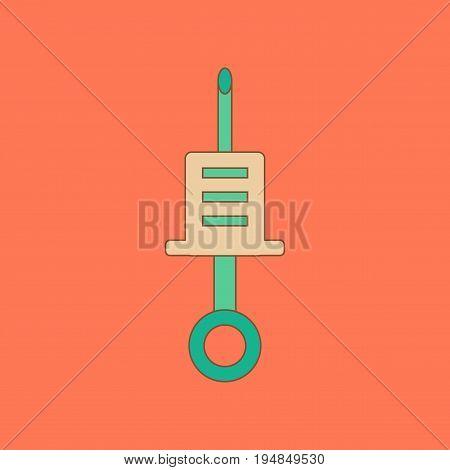 flat icon on stylish background Kids toy syringe